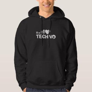 I Liebe Techno Kapuzenpulli