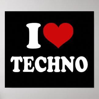 I Liebe Techno Poster