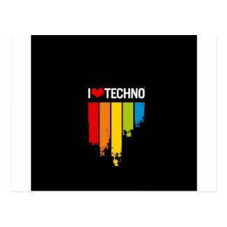 I Liebe Techno Postkarten