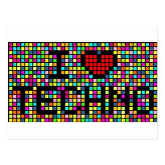 I Liebe Techno Postkarte