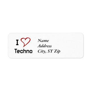 I Liebe Techno Rücksendeetikett