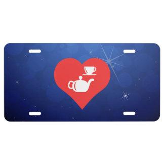 I Liebe-Tee-Set-coole Ikone US Nummernschild