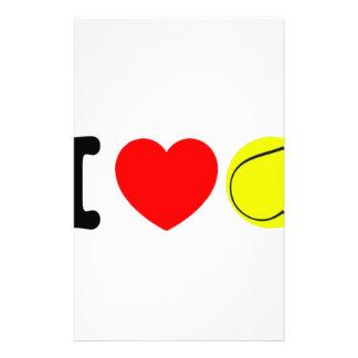 I Liebe-Tennis Briefpapier