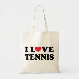 I Liebe-Tennis (Geschenk) Budget Stoffbeutel