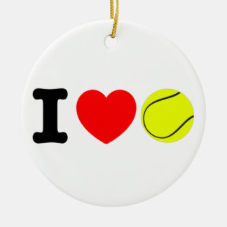 I Liebe-Tennis Keramik Ornament