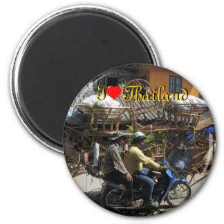 I Liebe Thailand auf rundem Magneten Runder Magnet 5,1 Cm