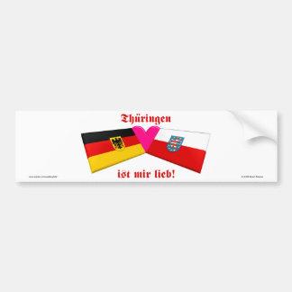 I Liebe Thueringen ist-MIR lieb Auto Sticker