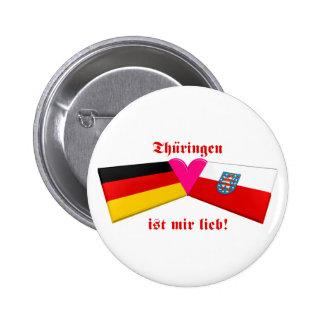 I Liebe Thueringen ist-MIR lieb Runder Button 5,7 Cm
