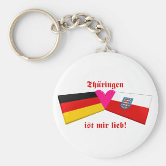 I Liebe Thueringen ist-MIR lieb Standard Runder Schlüsselanhänger