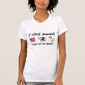 I Liebe-Tiere vegetarisch T-Shirts