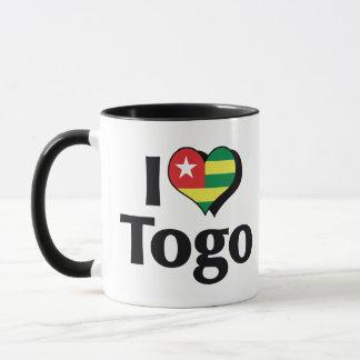 I Liebe-Togo-Flagge Tasse