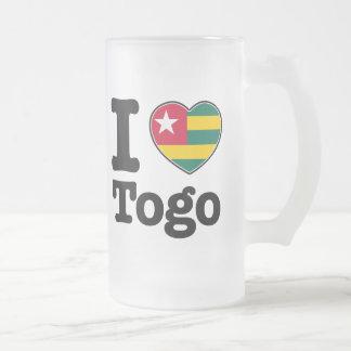 I Liebe Togo Mattglas Bierglas