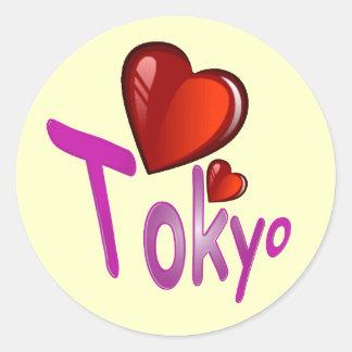 I Liebe Tokyo! Runder Sticker