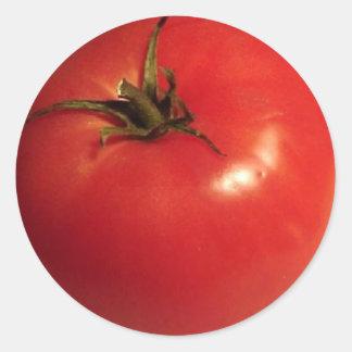 I Liebe-Tomaten Runder Aufkleber