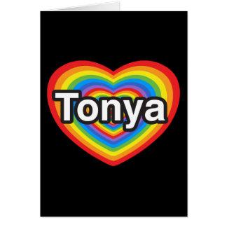 I Liebe Tonya. Liebe I Sie Tonya. Herz Karte