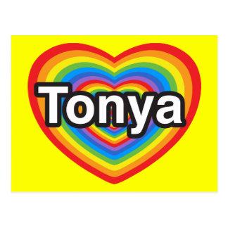 I Liebe Tonya. Liebe I Sie Tonya. Herz Postkarte
