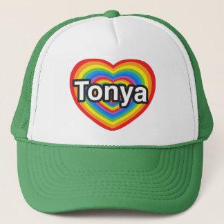 I Liebe Tonya. Liebe I Sie Tonya. Herz Truckerkappe