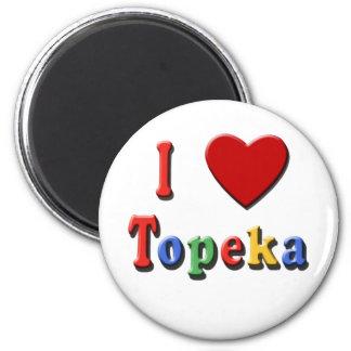 I Liebe TOPEKA-T-Shirts, Reise-Tassen, cooles Mate Kühlschrankmagnet