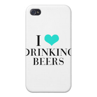 I Liebe-trinkende Biere iPhone 4/4S Cover