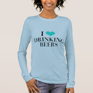 I Liebe-trinkende Biere Langarm T-Shirt