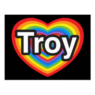 I Liebe Troja. Liebe I Sie Troja. Herz Postkarte