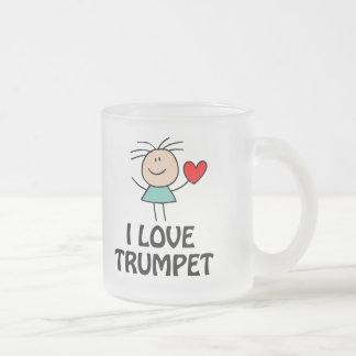 I Liebe-Trompete-Strichmännchen-Musik-Geschenk Mattglastasse