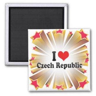 I Liebe-Tschechische Republik Quadratischer Magnet