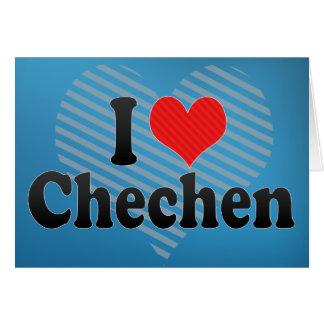 I Liebe-Tschetschene Grußkarte
