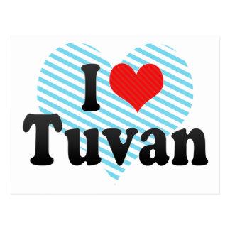 I Liebe Tuvan Postkarte