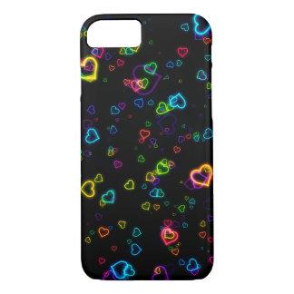 I Liebe U - glückliches Neon iPhone 8/7 Hülle