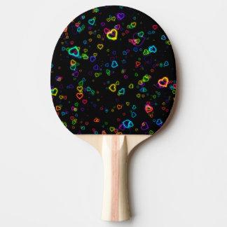 I Liebe U - glückliches Neon Tischtennis Schläger
