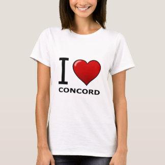 I LIEBE-ÜBEREINSTIMMUNG, CA - KALIFORNIEN T-Shirt