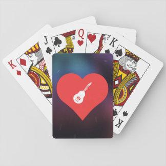 I Liebe Ukeleles cooles Symbol Spielkarten