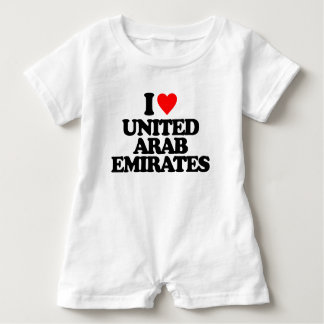 I LIEBE UNITED ARAB EMIRATES BABY STRAMPLER