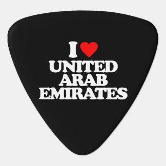 I LIEBE UNITED ARAB EMIRATES PLEKTRUM