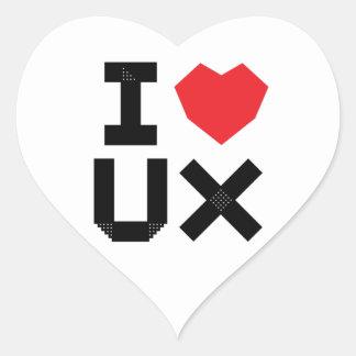 I Liebe UX (Benutzer-Erfahrung) Herz-Aufkleber