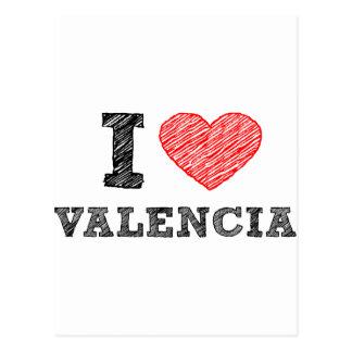 I Liebe Valencia Postkarte