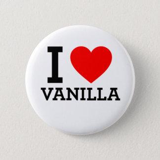 I Liebe-Vanille Runder Button 5,1 Cm