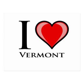 I Liebe Vermont Postkarte