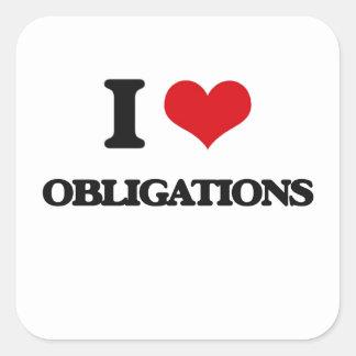 I Liebe-Verpflichtungen Quadratsticker