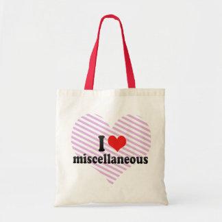 I Liebe verschieden Taschen
