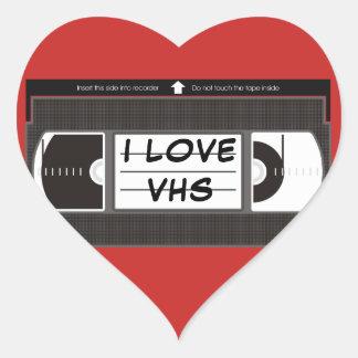 I Liebe VHS Herz-Aufkleber