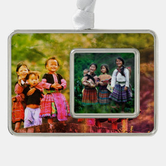 I Liebe Vietnam Rahmen-Ornament Silber