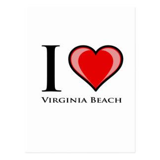 I Liebe Virginia Beach Postkarte