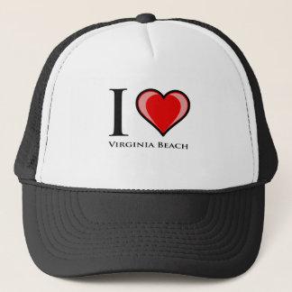 I Liebe Virginia Beach Truckerkappe
