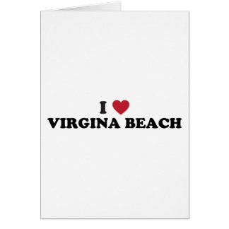 I Liebe Virginia Beach Virginia Karte