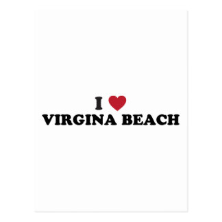 I Liebe Virginia Beach Virginia Postkarte