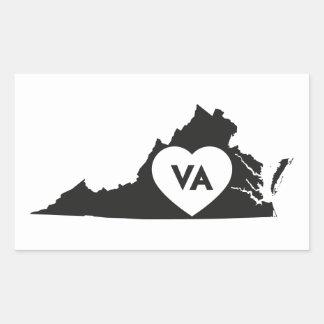 I Liebe-Virginia-Staats-Aufkleber Rechteckiger Aufkleber