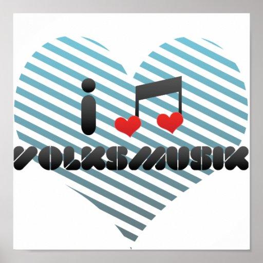 I Liebe Volksmusik Plakat