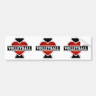 I Liebe-Volleyball Autoaufkleber